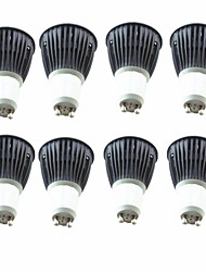 cheap -8pcs 5.5W 6.5W 600lm GU10 LED Spotlight 1 LED Beads COB Warm White Cold White 220-240V