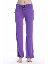 baratos -Mulheres Calças de Yoga Esportes Sólido Meia-calça Ioga, Pilates, Exercício e Atividade Física Roupas Esportivas Respirabilidade