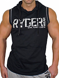 povoljno -Muška sportska košulja bez rukava s kratkim rukavima - čvrsto pismo