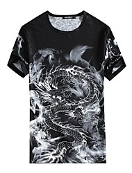 baratos -Homens Camiseta Estampado, Floral