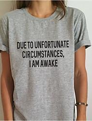 cheap -Women's T-shirt - Letter Modern Style