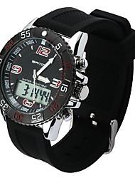 preiswerte -Herrn Sportuhr Japanisch Quartz Armbanduhren für den Alltag PU Band Freizeit Schwarz Weiß Grün Khaki