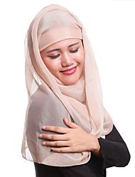 cheap -Women's Party Polyester Hijab - Solid Colored