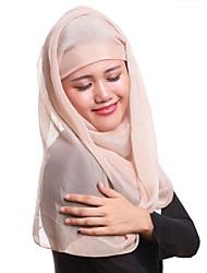 Недорогие -Жен. Для вечеринки Хиджаб Полиэстер, Однотонный