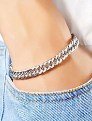 cheap -Men's / Women's Chain Bracelet - European, Fashion, Steampunk Bracelet Silver For Daily