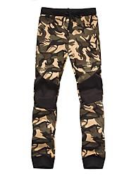 Недорогие -обычные мужские штаны среднего роста с микро-эластичными тощими брюками, простой активный узорчатый полиуретан с капюшоном / хлопок /