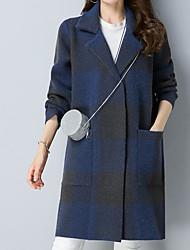 Недорогие -Жен. Пальто Контрастных цветов С принтом
