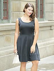 cheap -Women's A Line Sheath Little Black Dress - Solid, Basic