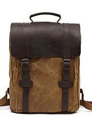 preiswerte -Segeltuch Leder Reisetasche Knöpfe für Normal Ganzjährig Schwarz Militßrgrün Grau Khaki