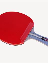 baratos -DHS® R4002C Ping Pang/Tabela raquetes de tênis Madeira Borracha 4 Estrelas Cabo Comprido Espinhas