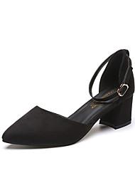abordables -Mujer Zapatos PU Verano Suelas con luz Sandalias Tacón Kitten Dedo Puntiagudo Hebilla Gris / Marrón / Verde Ejército
