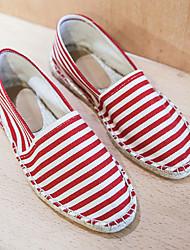cheap -Men's Espadrilles Linen Summer Loafers & Slip-Ons Red / Blue
