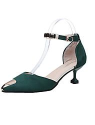 preiswerte -Damen Schuhe PU Frühling Sommer Pumps Komfort Sandalen Blockabsatz Runde Zehe Schnalle für Büro & Karriere Party & Festivität Kleid