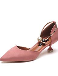 preiswerte -Damen Schuhe PU Sommer High Heels Stöckelabsatz für Normal Schwarz Blau Rosa