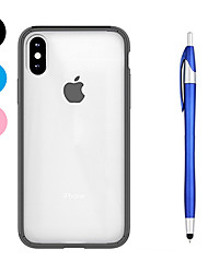 cheap -Case For Apple iPhone X iPhone 8 Plus Shockproof Transparent Back Cover Solid Color Soft TPU for iPhone X iPhone 8 Plus iPhone 8 iPhone 7