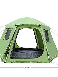 economico -Shamocamel® 5-8 persone Igloo da spiaggia Doppio Tenda da campeggio Tende da campeggio formato famiglia Retrattile per Picnic 1500-2000 mm