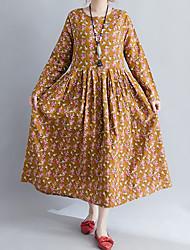 cheap -Women's Vintage Swing Dress - Floral, Print