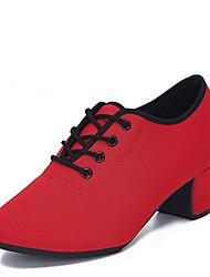 "baratos -Mulheres Moderna Tule Oxford Salto Interior Salto Baixo Preto Vermelho 1 ""- 1 3/4"" Personalizável"