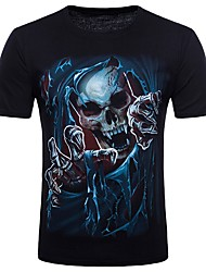 preiswerte -Herrn Totenkopf Motiv-Punk & Gothic Street Schick Klub Baumwolle T-shirt,Rundhalsausschnitt