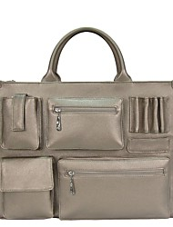 cheap -Women's Bags PVC Tote / Briefcase Zipper Silver