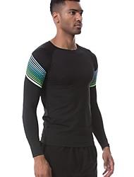 preiswerte -Herrn Laufshirt Langarm Atmungsaktivität T-shirt für Übung & Fitness Polyester Weiß Schwarz Grün Rot/Weiß S M L XL XXL
