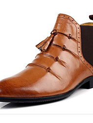 cheap -Men's Combat Boots Nappa Leather / Cowhide Fall / Winter Comfort / Combat Boots Boots Booties / Ankle Boots Light Brown