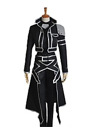 cheap -Inspired by Sword Art Online SAO Kirito Swordman Cosplay Anime Cosplay Costumes Cosplay Suits Other Long Sleeves Coat Top Pants Gloves