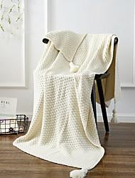 baratos -Tricotado, Fios Tingidos Sólido Geométrica Algodão cobertores