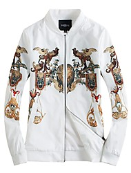 cheap -Men's Casual Plus Size Jacket-Contemporary,Print Stand