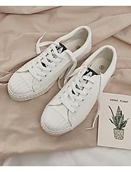 男性用 靴 PUレザー 春 秋 コンフォートシューズ スニーカー のために カジュアル ホワイト ブラック