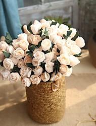 baratos -1 Ramo Poliéster Toque real Tulipas Flor de Mesa Flores artificiais
