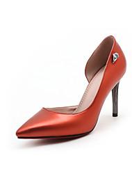 女性用 靴 PUレザー 春 夏 ベーシックサンダル ヒール スティレットヒール ポインテッドトゥ のために オフィス&キャリア パーティー レッド グリーン