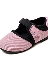 cheap -Girls' Shoes Suede Spring / Fall Comfort / Flower Girl Shoes Flats Split Joint / Magic Tape for Pink / Wine / Dark Brown