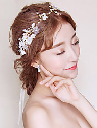 cheap -Pearl Fabric Headbands with Pearl Floral 1pc Wedding Party / Evening Headpiece