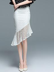 Žene Bodycon Suknje - Jednobojni, Drapirano