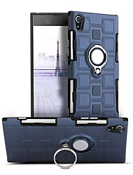 cheap -Case For Sony Xperia XA1 Shockproof Ring Holder 360° Rotation Back Cover Solid Color Hard PC for Sony Xperia XA1