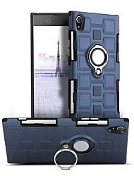 abordables -Coque Pour Sony Xperia XA1 Antichoc Anneau de Maintien Rotation 360° Coque Couleur unie Dur PC pour Sony Xperia XA1
