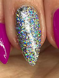 Недорогие -1pcs Порошок блеска Зеркальный эффект Гель для ногтей Дизайн ногтей
