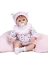 cheap -NPK DOLL Reborn Doll Baby Girl 16inch Silicone / Vinyl - Natural Skin Tone, Floppy Head, Tipped and Sealed Nails Unisex Kid's Gift