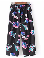 cheap -Women's Simple Wide Leg Pants - Geometric