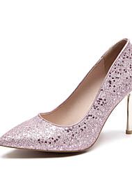 preiswerte -Damen Schuhe Paillette PU Frühling Sommer Pumps Hochzeit Schuhe Stöckelabsatz Spitze Zehe für Hochzeit Party & Festivität Gold Silber Rosa
