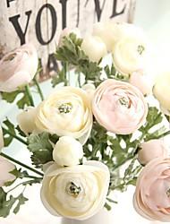 abordables -1 Une succursale Soie Contact réel Camélia Fleur de Table Fleurs artificielles
