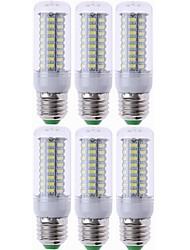 Недорогие -6шт e27 светодиодная лампа светодиодная лампа smd5730 220v кукуруза луковица 72leds люстра свеча привело свет для домашнего украшения ампулы