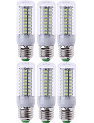 abordables -SENCART 6pcs 7W 1200lm E14 G9 GU10 E26 / E27 B22 Ampoules Maïs LED T 72 Perles LED SMD 5730 Décorative Blanc Chaud Blanc Froid 220-240V
