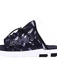 cheap -Men's Shoes PU Summer Light Soles Slippers & Flip-Flops for Casual Black Rainbow Black/White