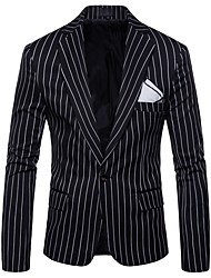 cheap -Men's Active Plus Size Slim Blazer-Striped
