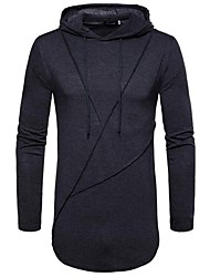 cheap -Men's Long Sleeve Slim Hoodie - Solid Colored Hooded / Please choose one size larger according to your normal size.