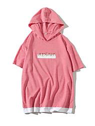 preiswerte -Herrn Solide Einfarbig Buchstabe-Grundlegend Street Schick T-shirt