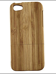 cheap -Case For Apple iPhone 5 Case Shockproof Full Body Cases Wood Grain Hard Bamboo for iPhone 5