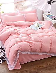 Poplun Cover Sets Jednobojni 4 komada Poly/Cotton 100% pamuk Yarn Dyed Poly/Cotton 100% pamuk 1pc duvet Cover 2kom Shams 1pc Stan list